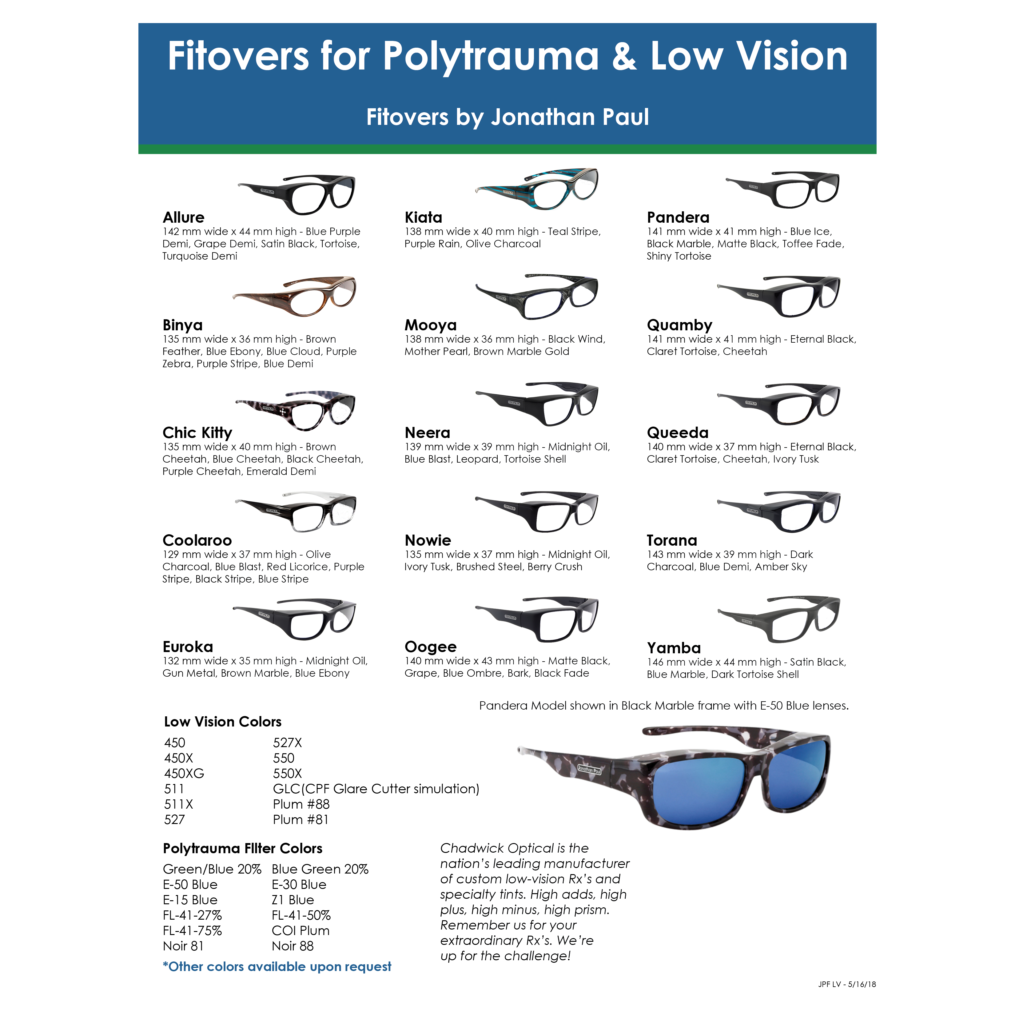 Chadwick Optical, Inc  Jonathan Paul Fitovers for Low Vision sheet